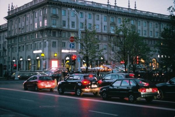 رانندگی در شهر مینسک